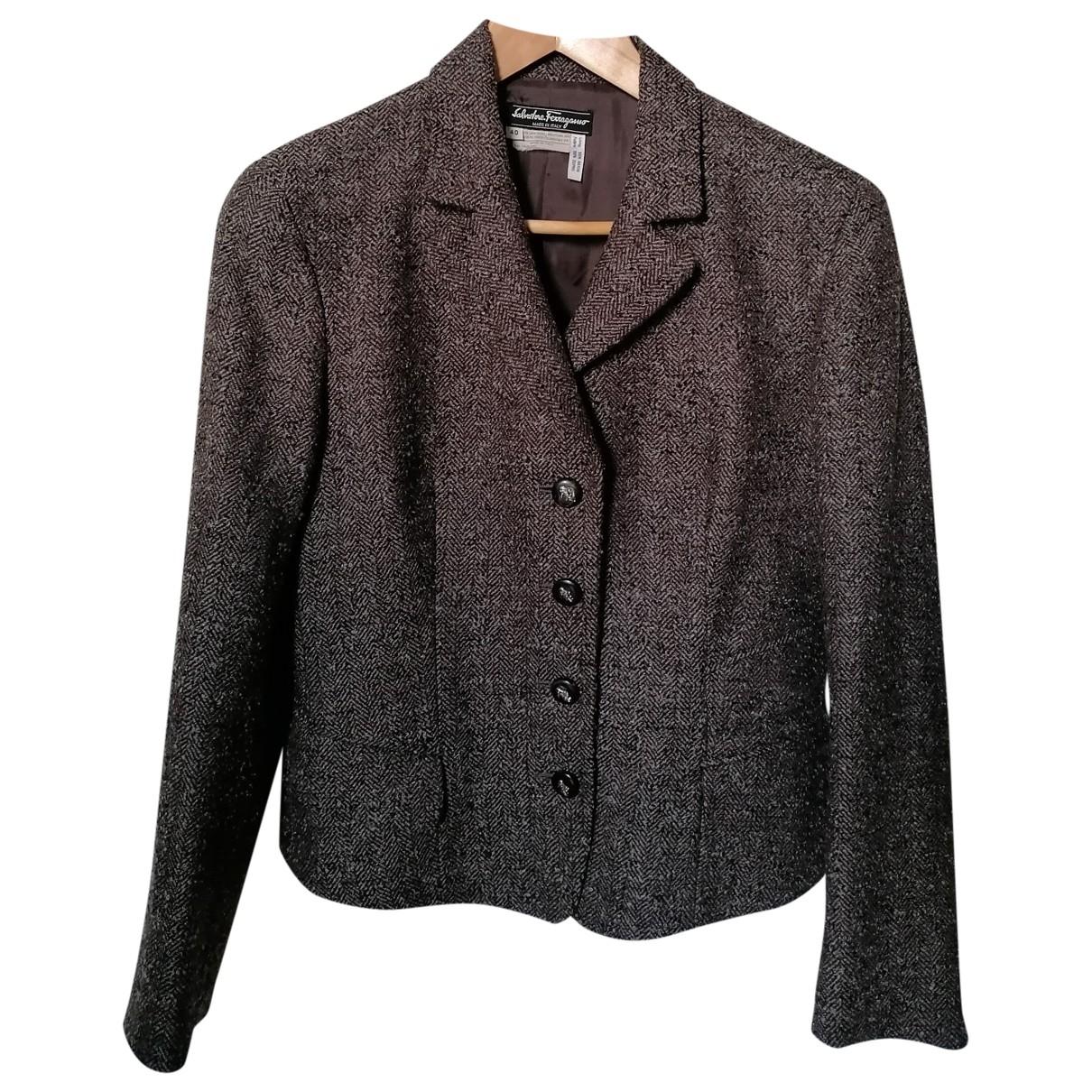 Salvatore Ferragamo - Veste   pour femme en laine - marron