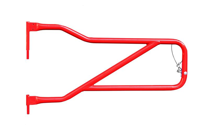 Steinjager J0048308 Doors, Tubular Wrangler JL 2018 to Present Red Baron Front Doors