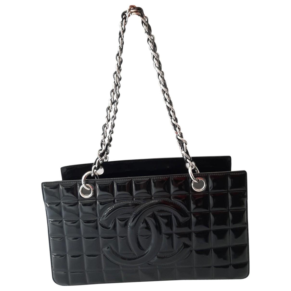 Chanel - Sac a main   pour femme en cuir verni - noir