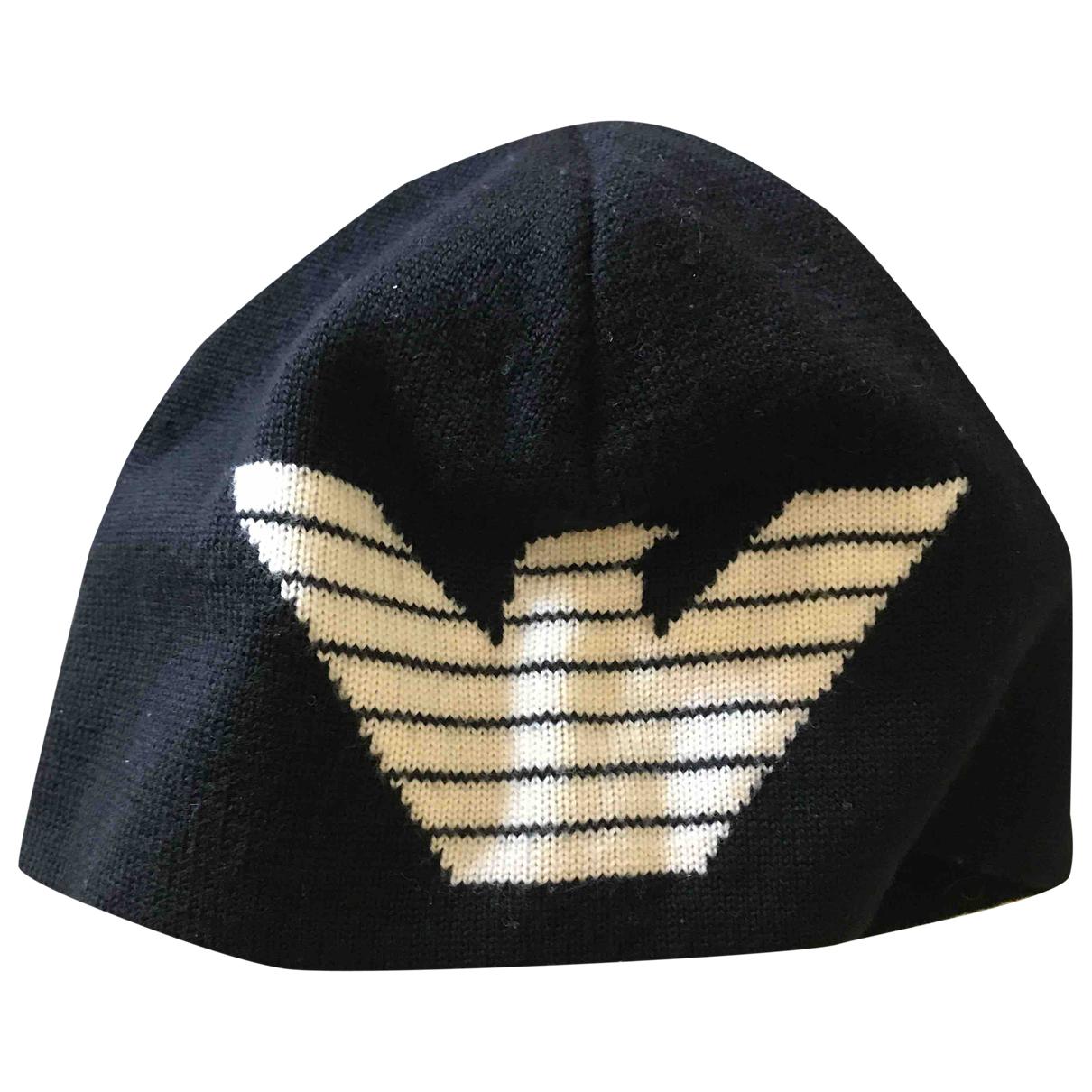 Emporio Armani - Chapeau   pour femme en laine - noir