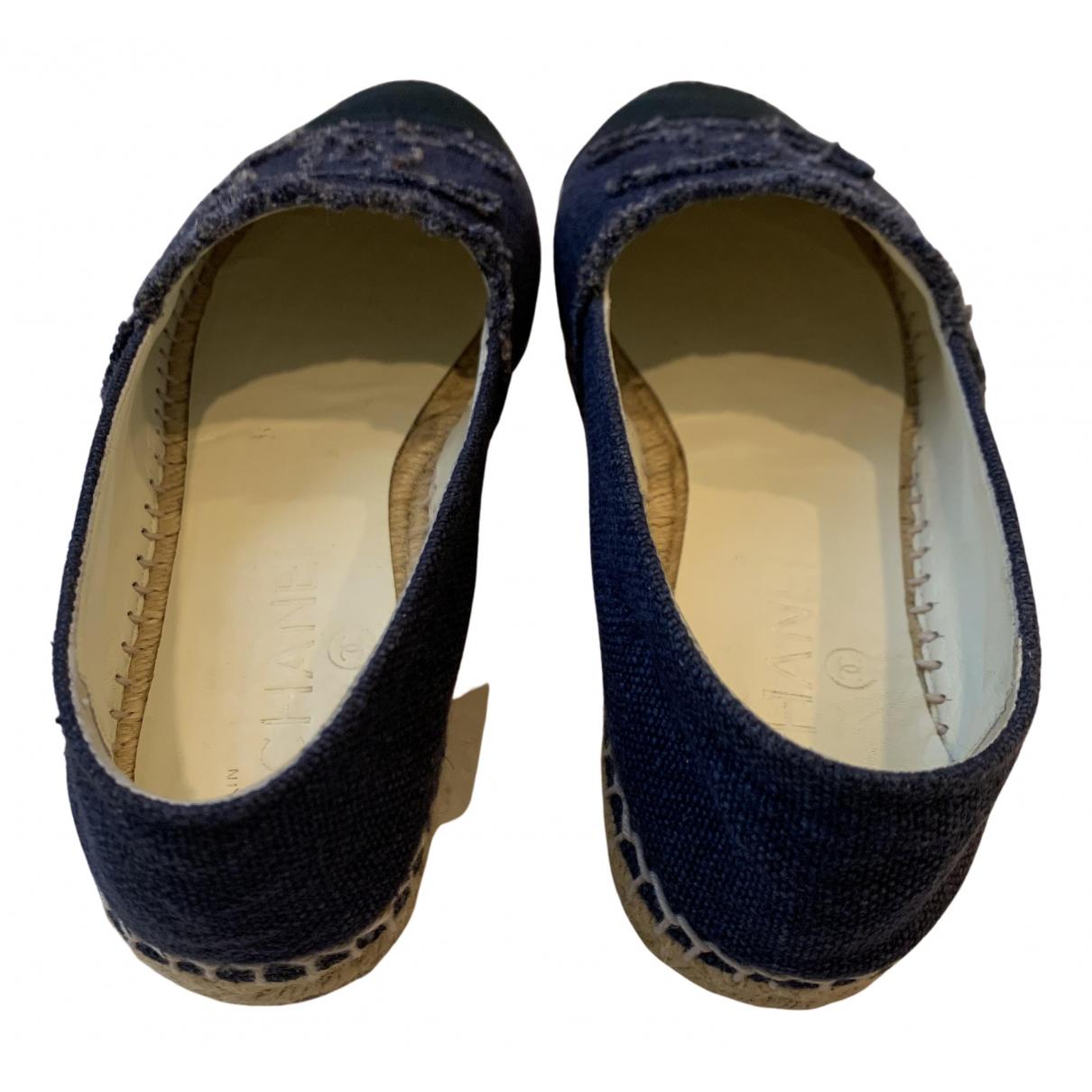 Chanel - Espadrilles   pour femme en toile - bleu