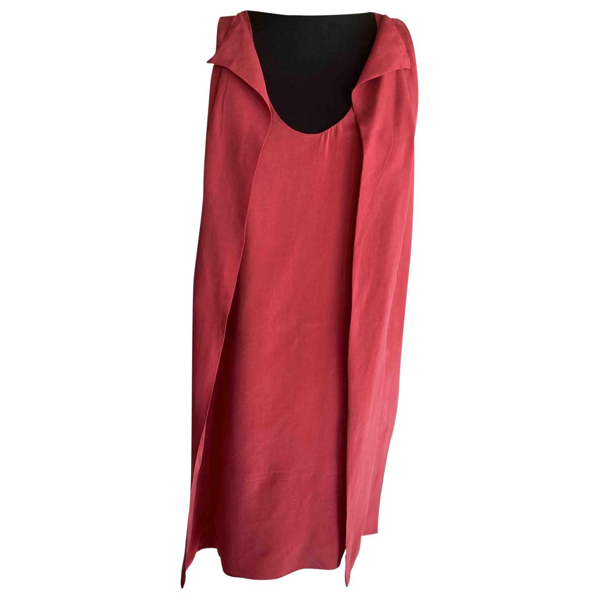 Dondup \N Red Silk dress for Women 42 IT