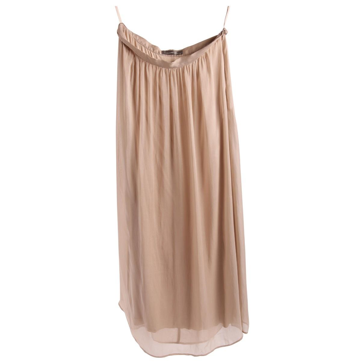 Hallhuber - Jupe   pour femme en soie - beige