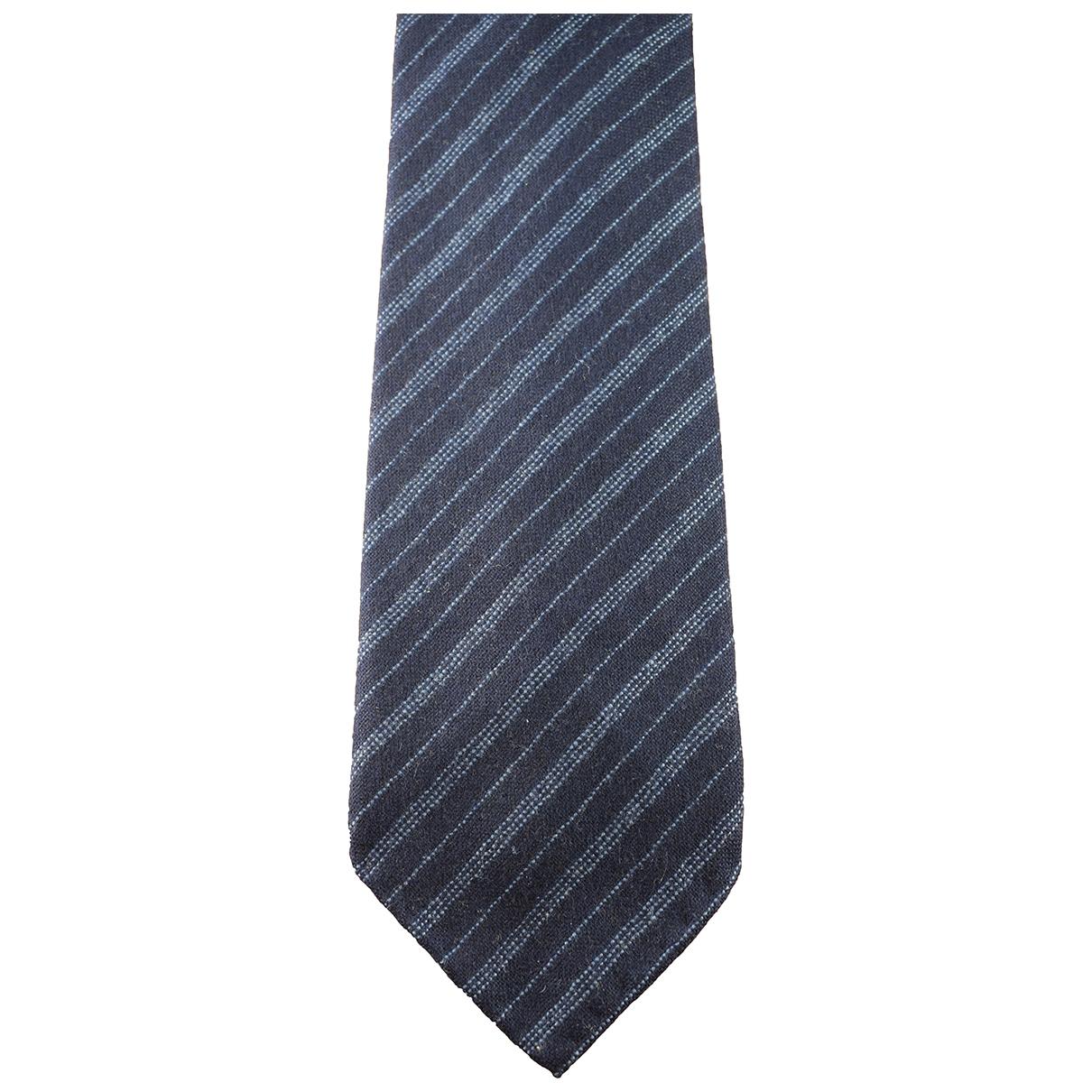 Hermes \N Krawatten in  Blau Kaschmir