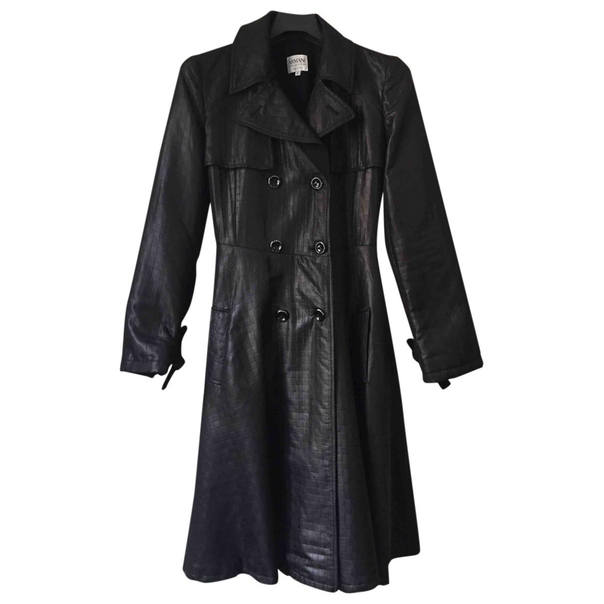 Armani Collezioni N Black coat for Women 40 IT