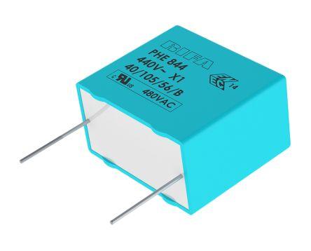 KEMET 680nF Polypropylene Capacitor PP 440 V ac, 480 V ac ±20% Tolerance Through Hole PHE844 Series (5)