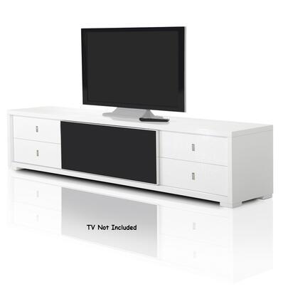 VGUNAA519-227-WHT A&X Leopold - Modern White Crocodile Lacquer TV