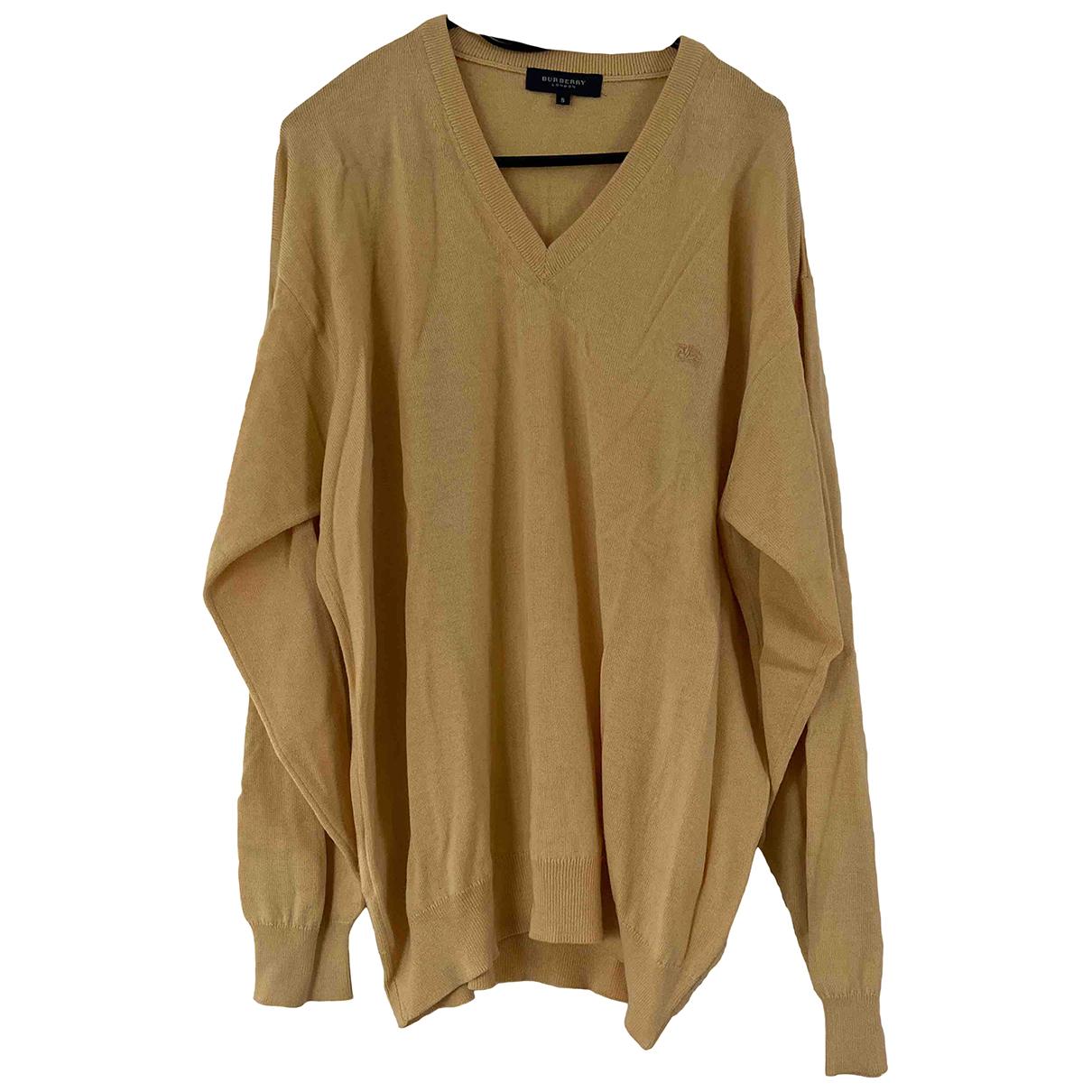 Burberry - Pulls.Gilets.Sweats   pour homme en laine - jaune