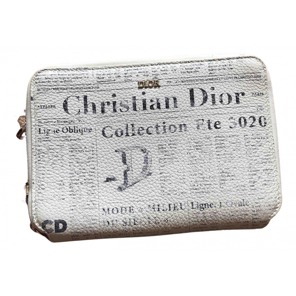 Dior Homme - Petite maroquinerie   pour homme en cuir - blanc