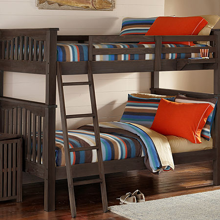 Highlands Harper Bunk Bed, One Size , Brown