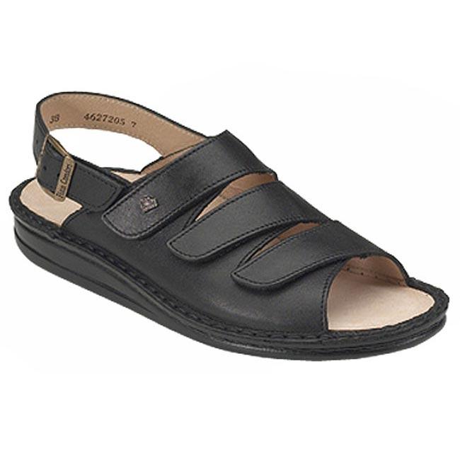 Finn Comfort Sylt Black Leather Soft Footbed 38