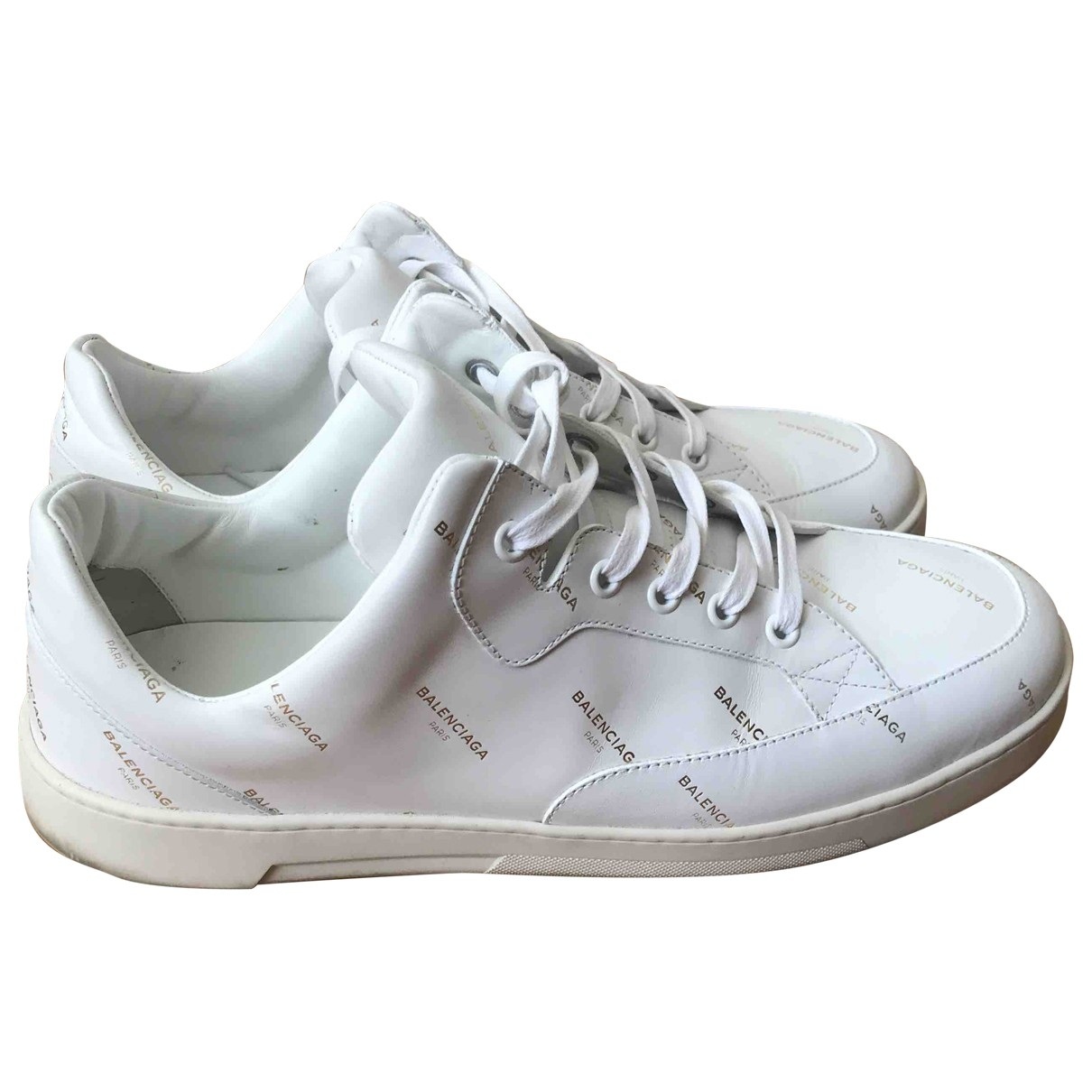Balenciaga \N White Leather Trainers for Men 42 EU