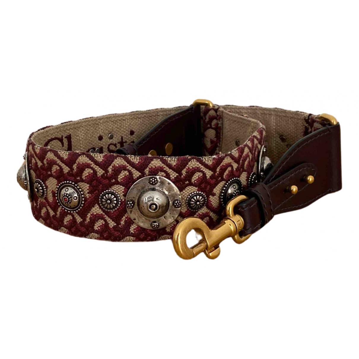 Dior N Burgundy Cloth belt for Women S International