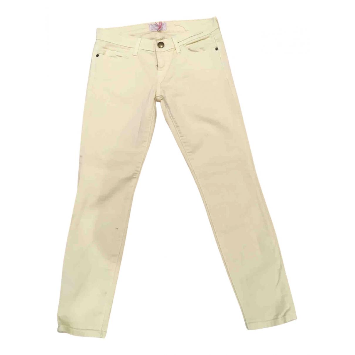 Current Elliott \N Yellow Denim - Jeans Jeans for Women 26 US
