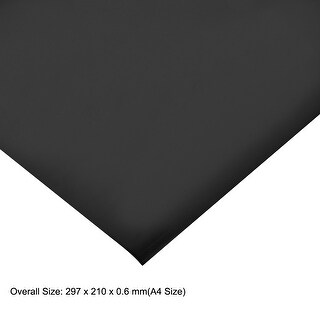A4 Plain Magnet Sheets for Crafts or Applying Adhesive Items 24 Mil Black (Black)