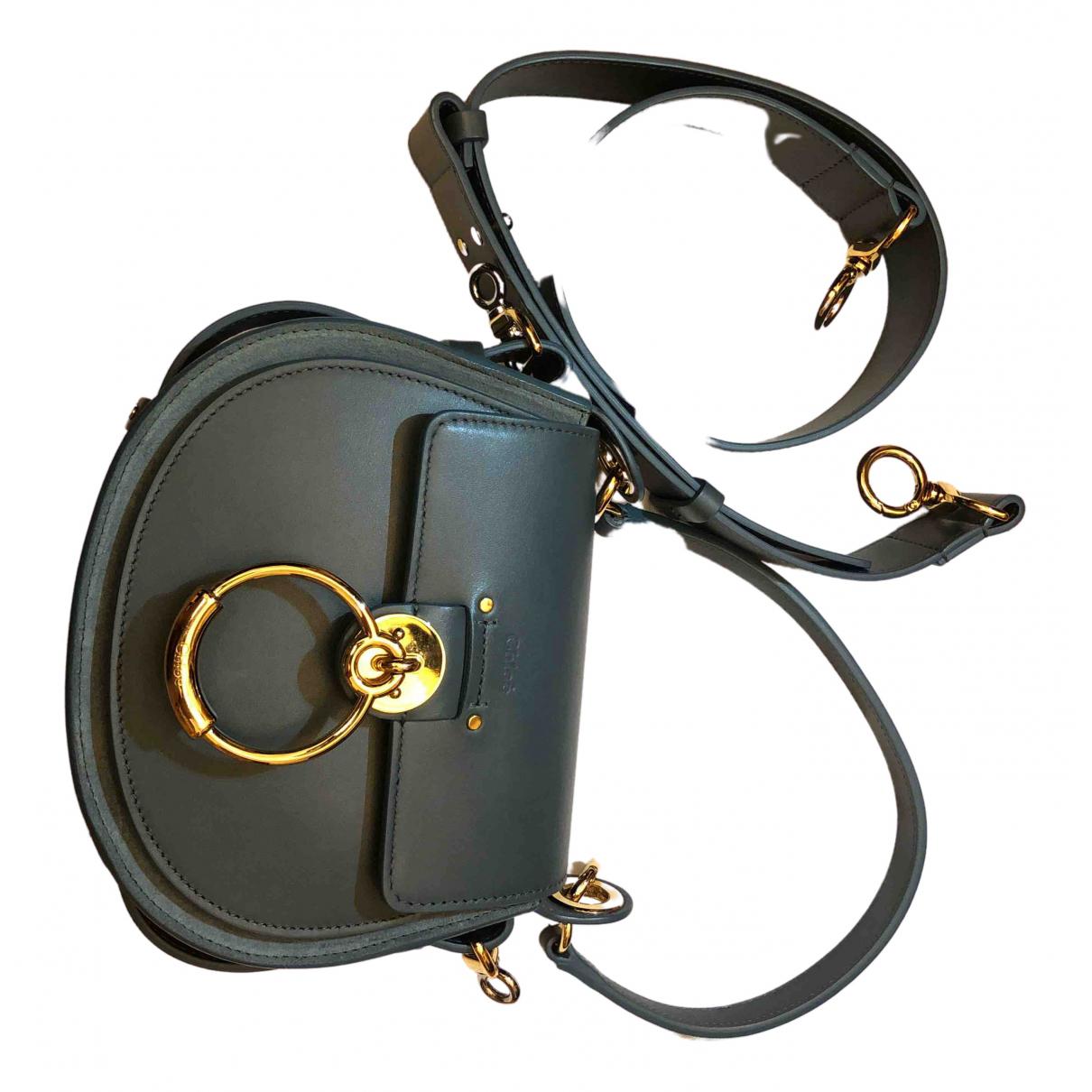 Chloé Tess Blue Leather handbag for Women \N