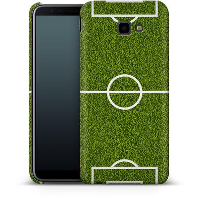 Samsung Galaxy J4 Plus Smartphone Huelle - Soccer Field von caseable Designs