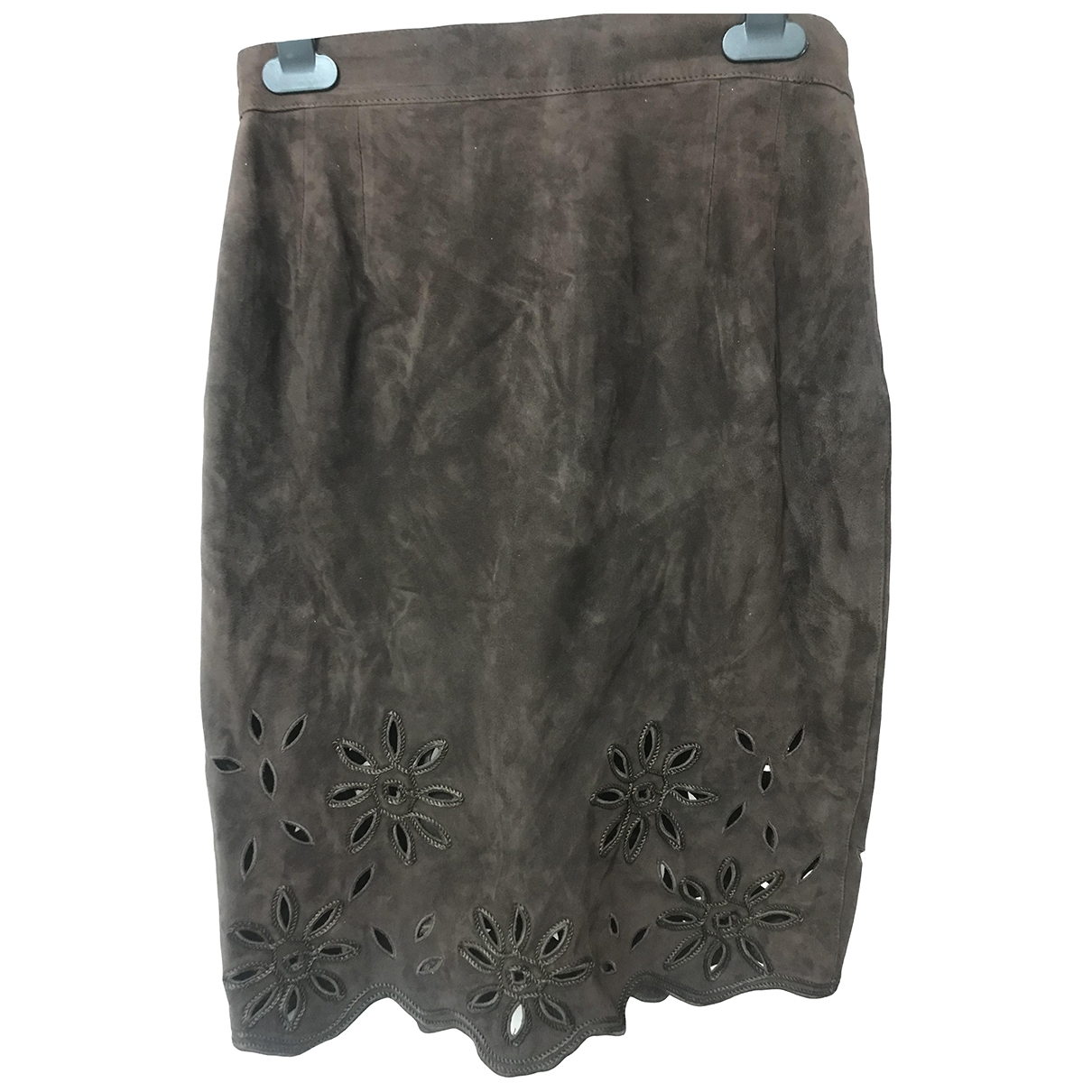 Emanuel Ungaro \N Brown Velvet skirt for Women 8 UK