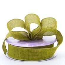 Polyester Moss Brandford Heavy Weave Ribbon - 1-1/2 X 20 Yards - Polyethyleneester by Paper Mart