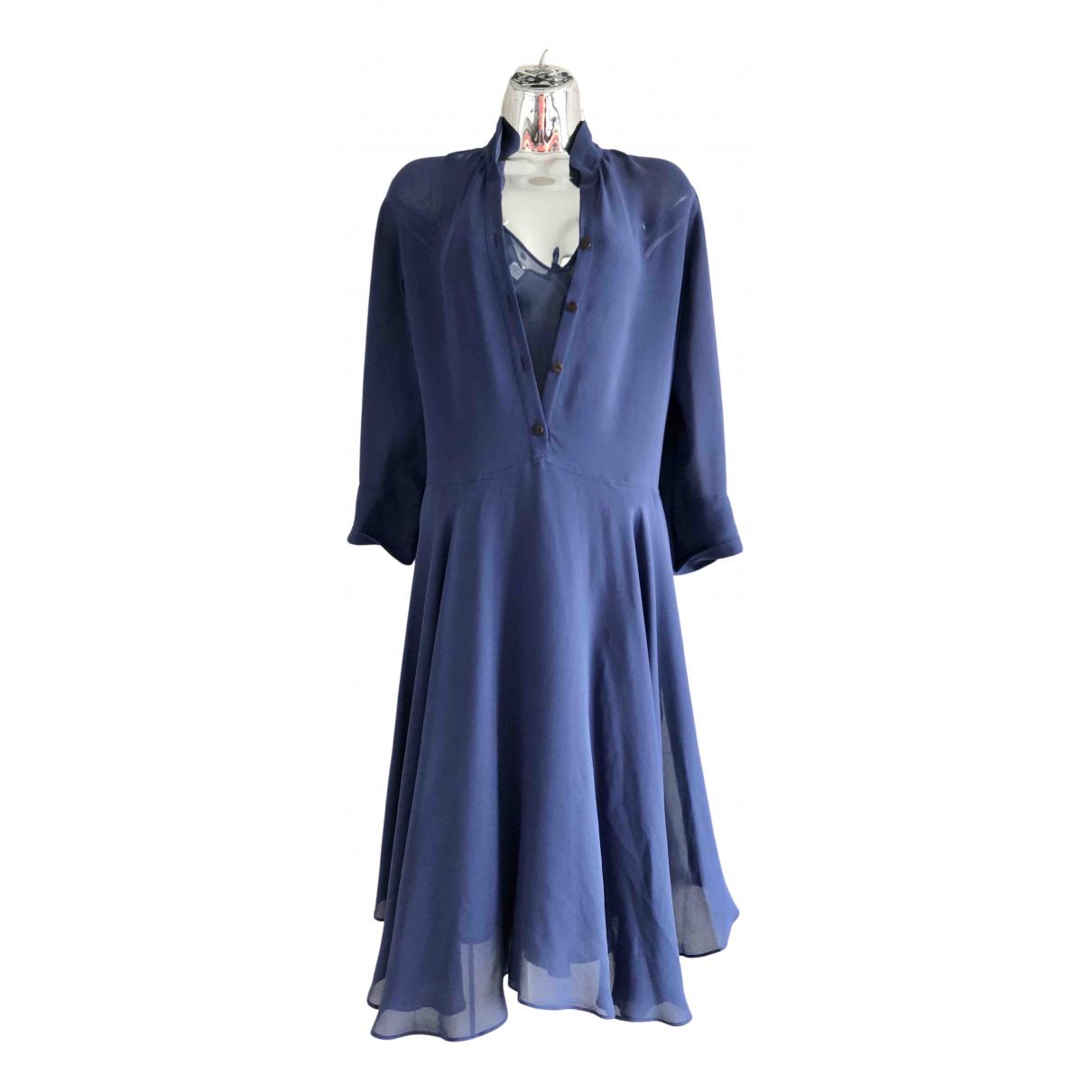 Hermès \N Blue Silk dress for Women 34 FR