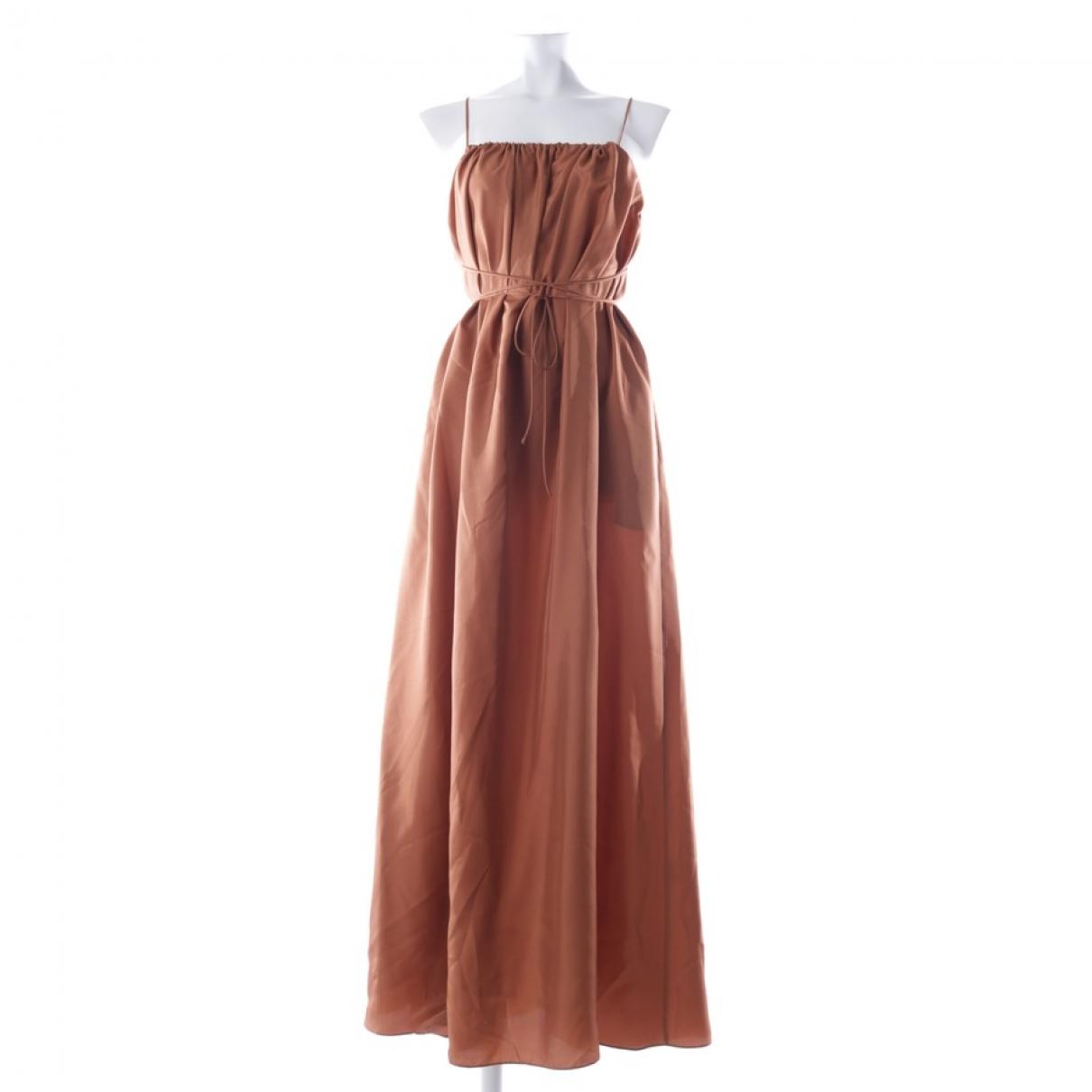 Three Graces London \N Brown Silk dress for Women 32 FR