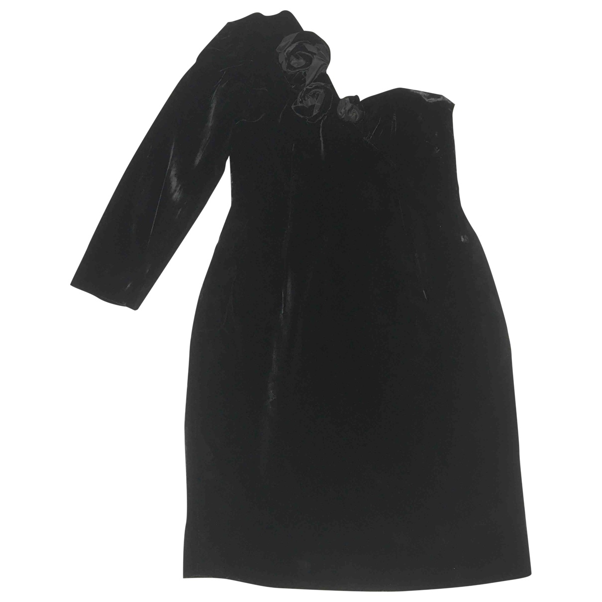 Max Mara \N Black Velvet dress for Women 42 IT