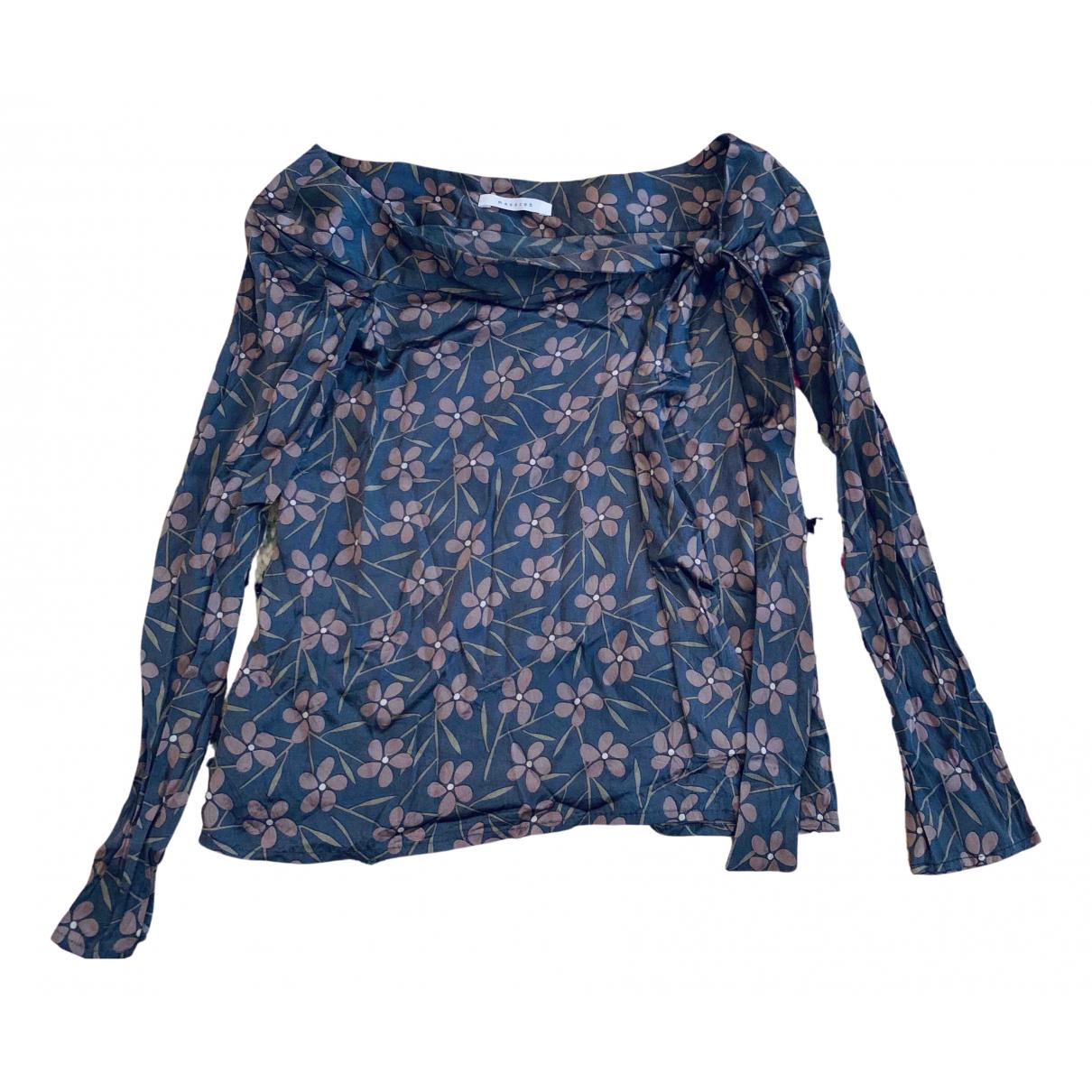 Masscob - Top   pour femme en soie - gris