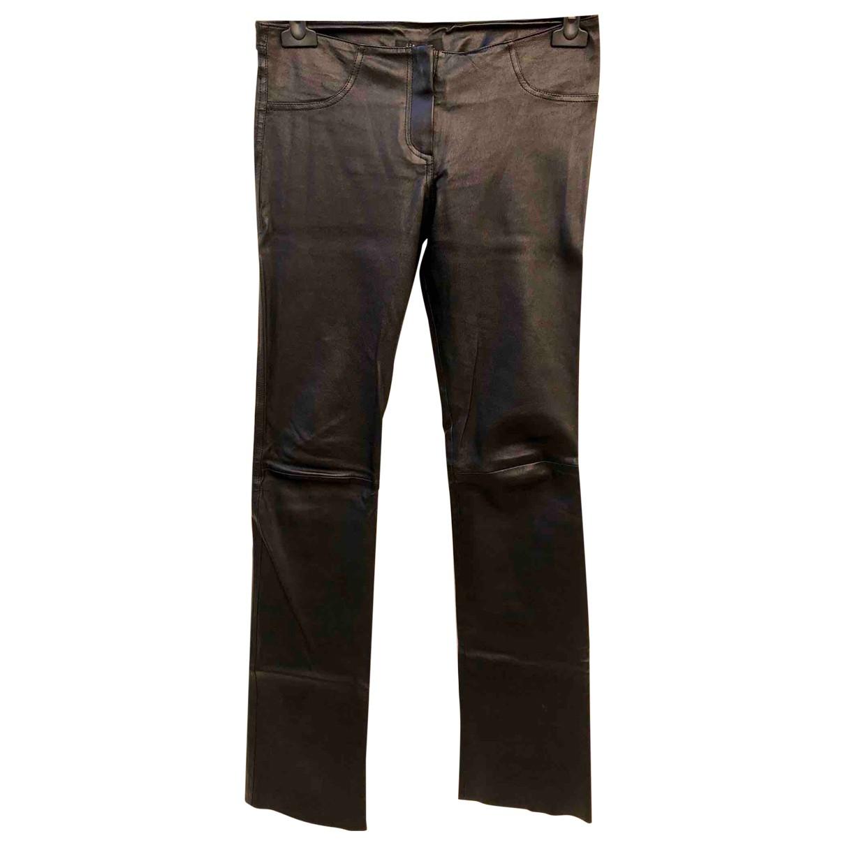 Pantalon largo de Cuero Jitrois