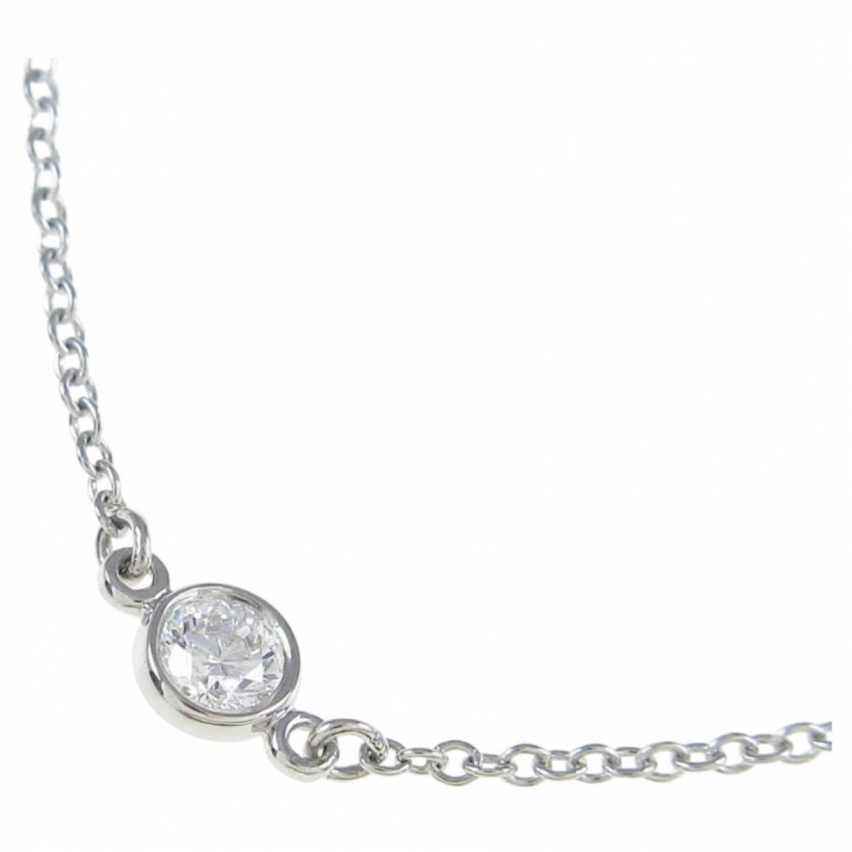Collar Elsa Peretti  de Oro blanco Tiffany & Co
