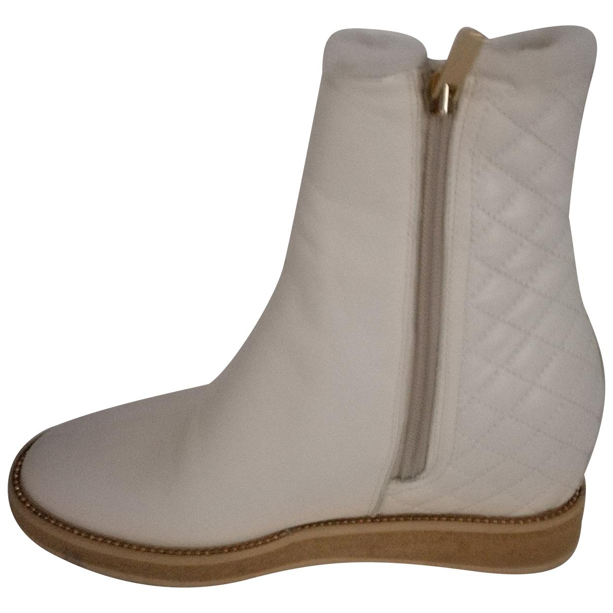 Baldinini - Boots   pour femme en cuir - blanc