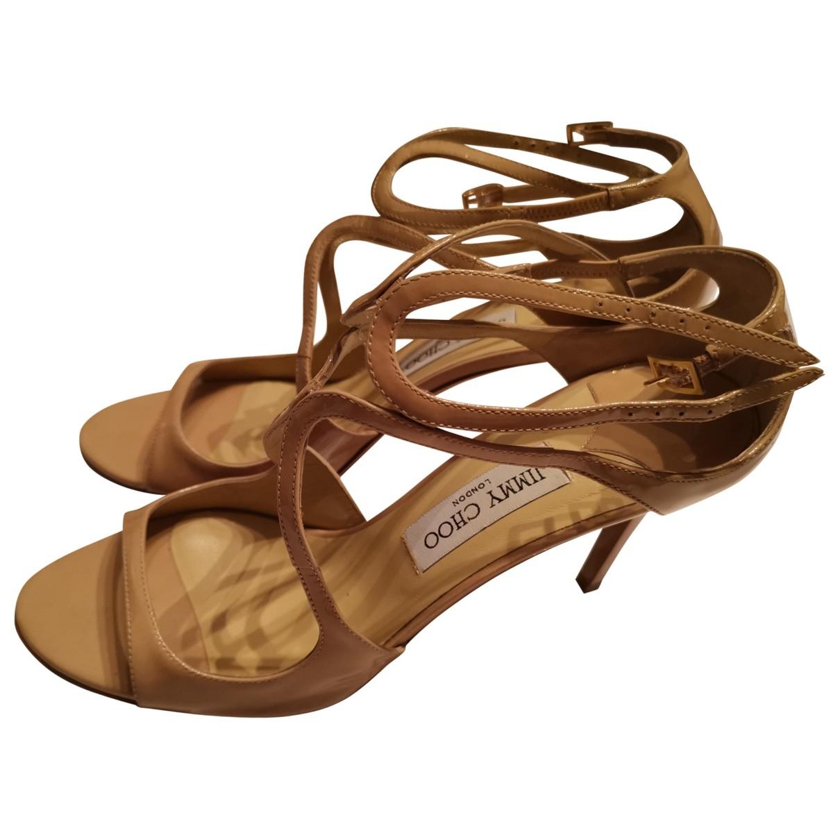 Jimmy Choo \N Beige Patent leather Sandals for Women 40.5 EU