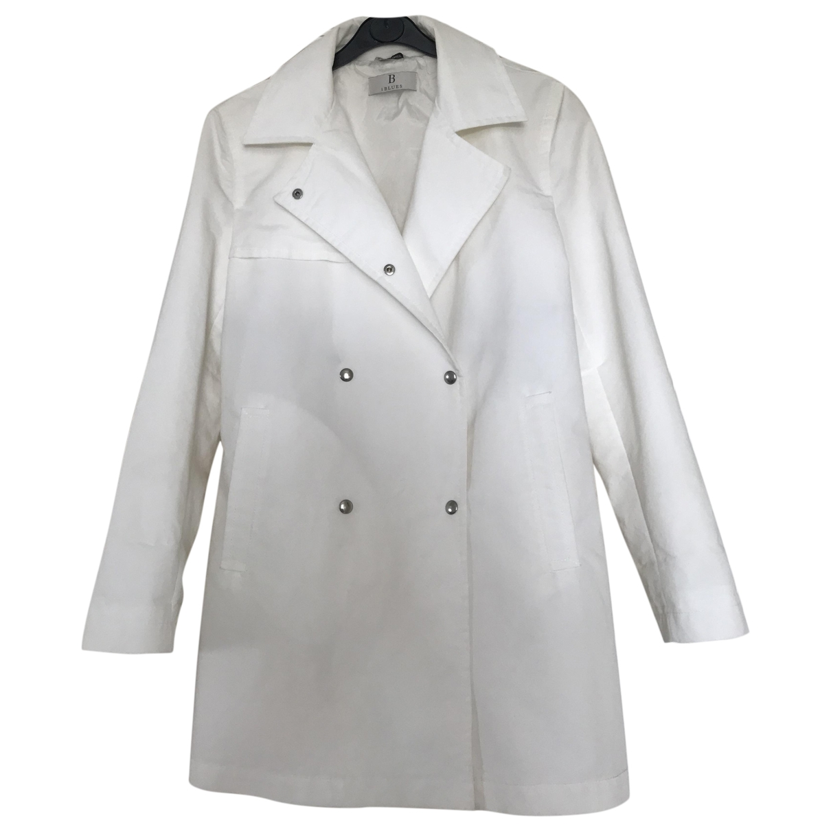 Non Signé / Unsigned \N White Cotton coat for Women 42 IT