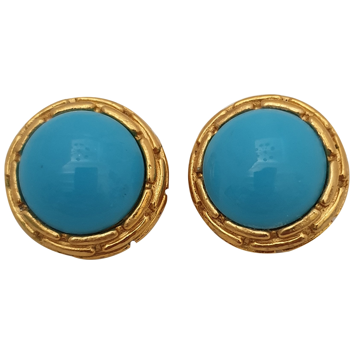 Chanel \N Turquoise Metal Earrings for Women \N