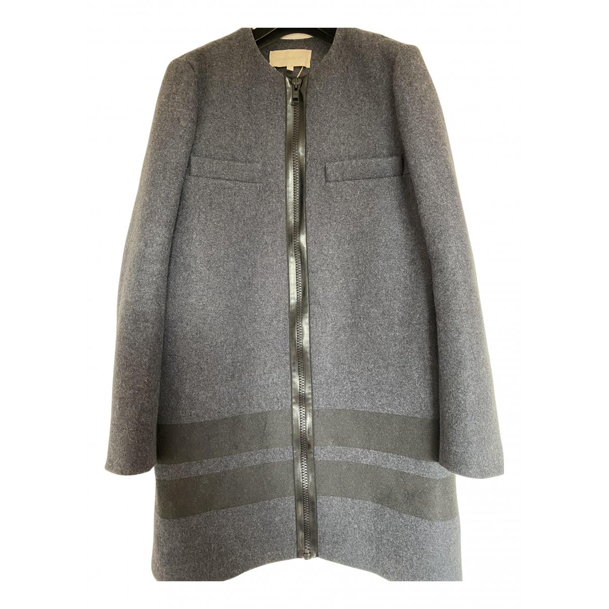 Vanessa Bruno - Manteau   pour femme en laine - gris