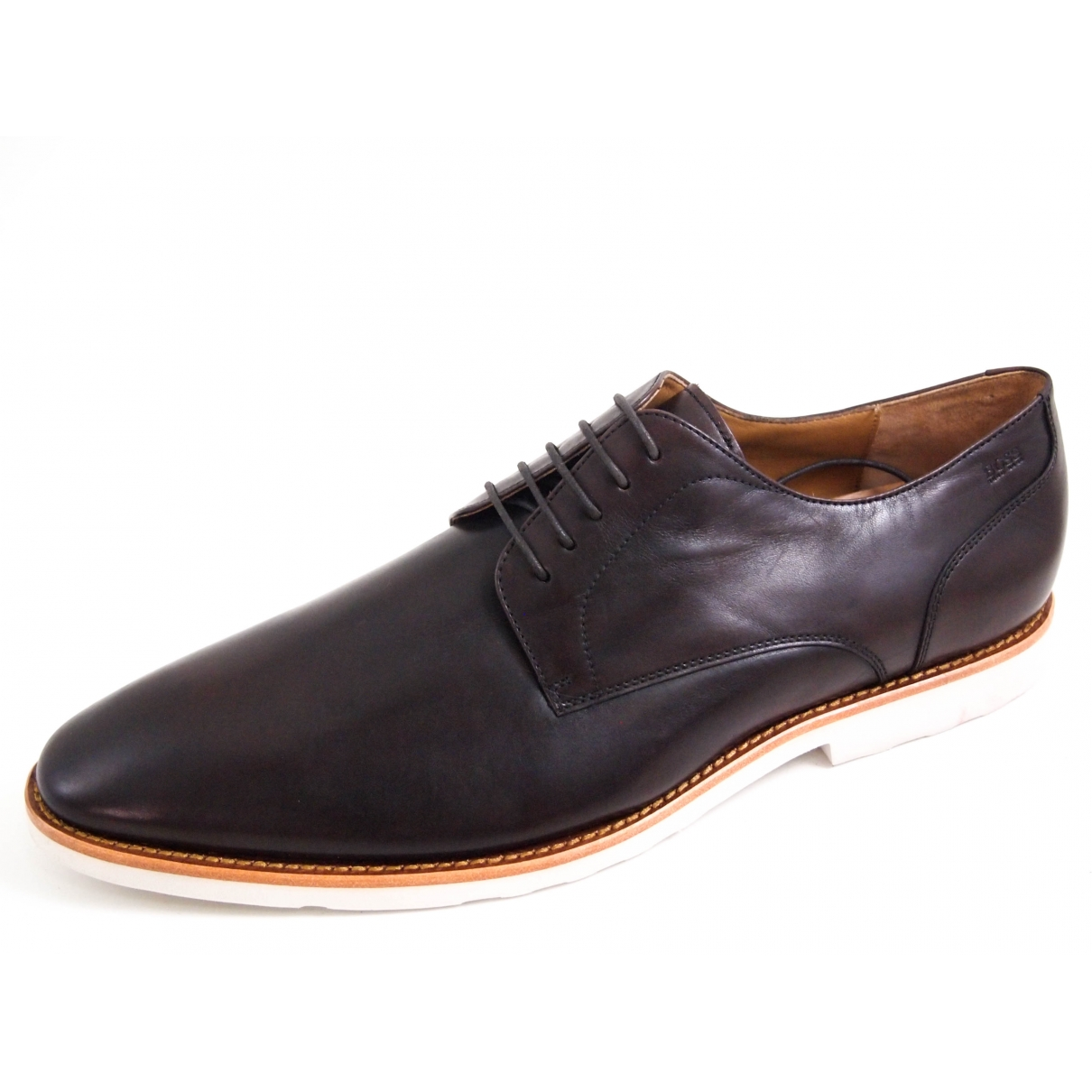 Hugo Boss - Derbies   pour homme en cuir - marron