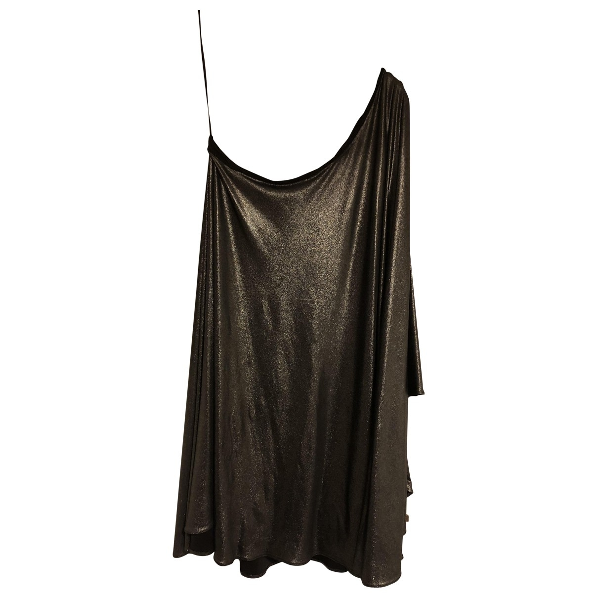 Halston Heritage \N Kleid in  Metallic Polyester