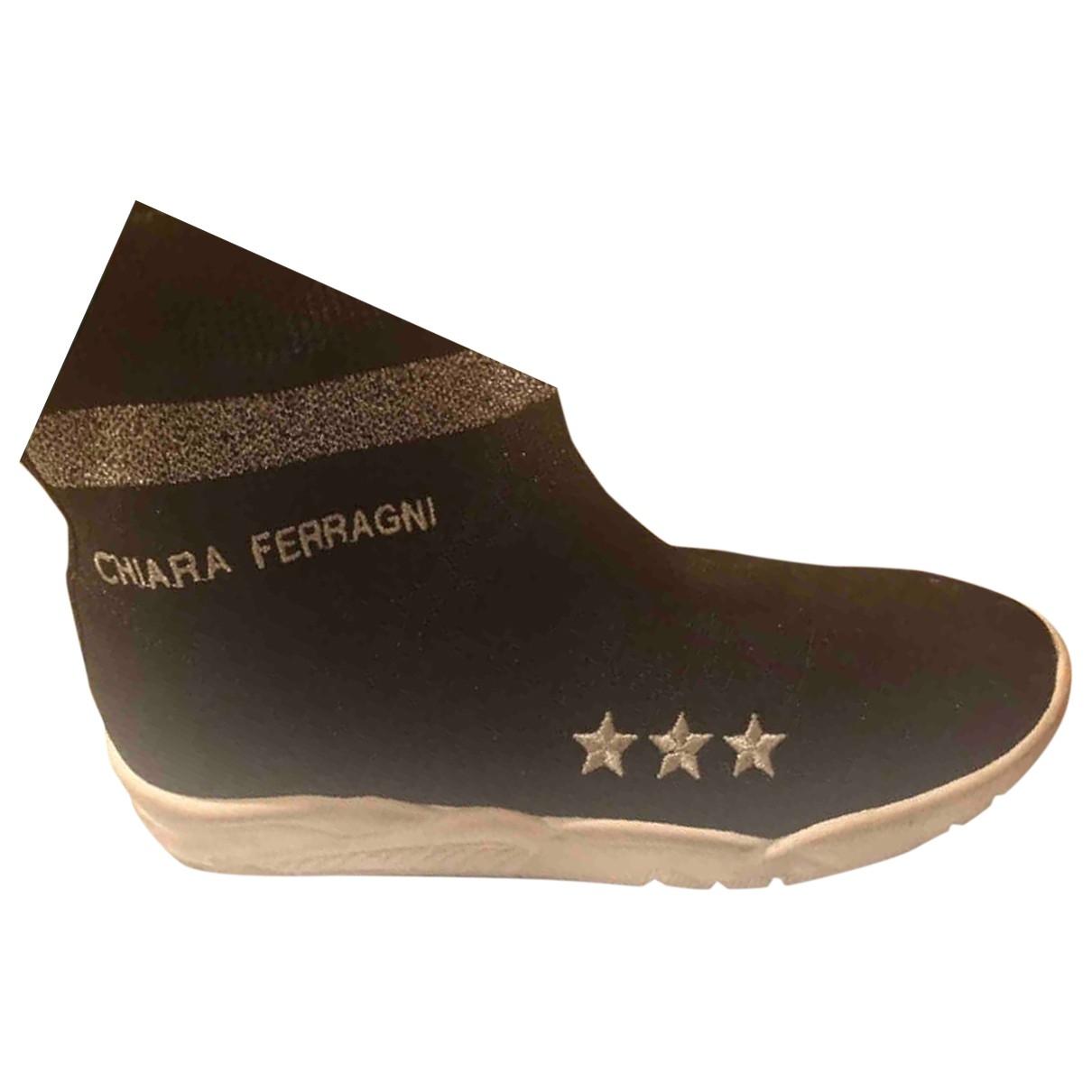 Chiara Ferragni - Baskets   pour femme en a paillettes - noir