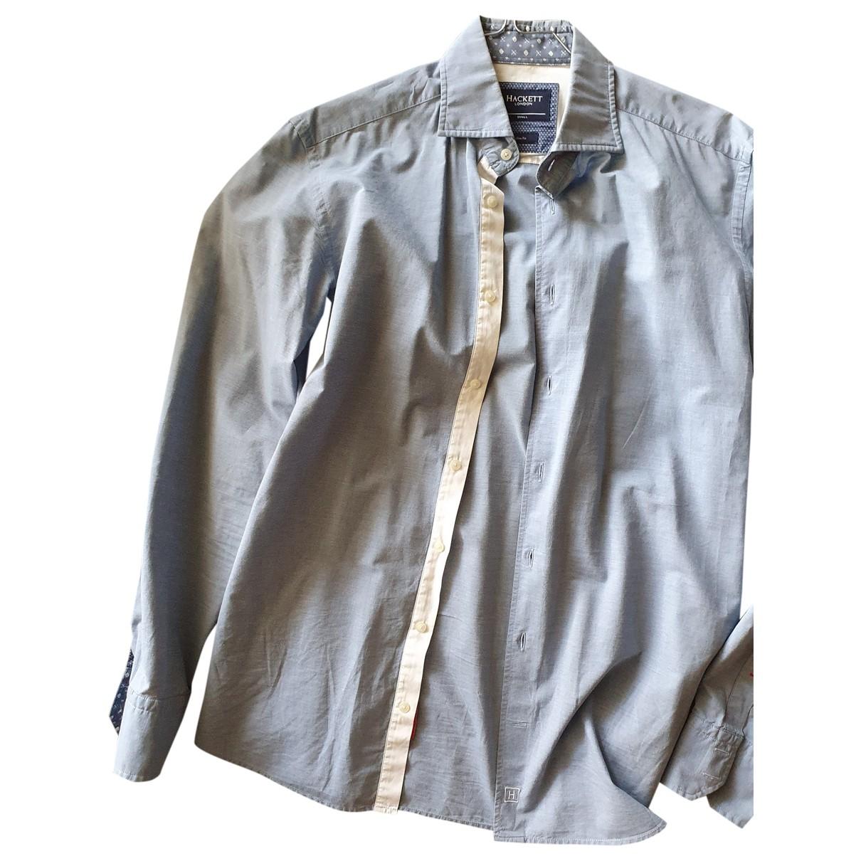 Hackett London \N Blue Cotton Shirts for Men S International