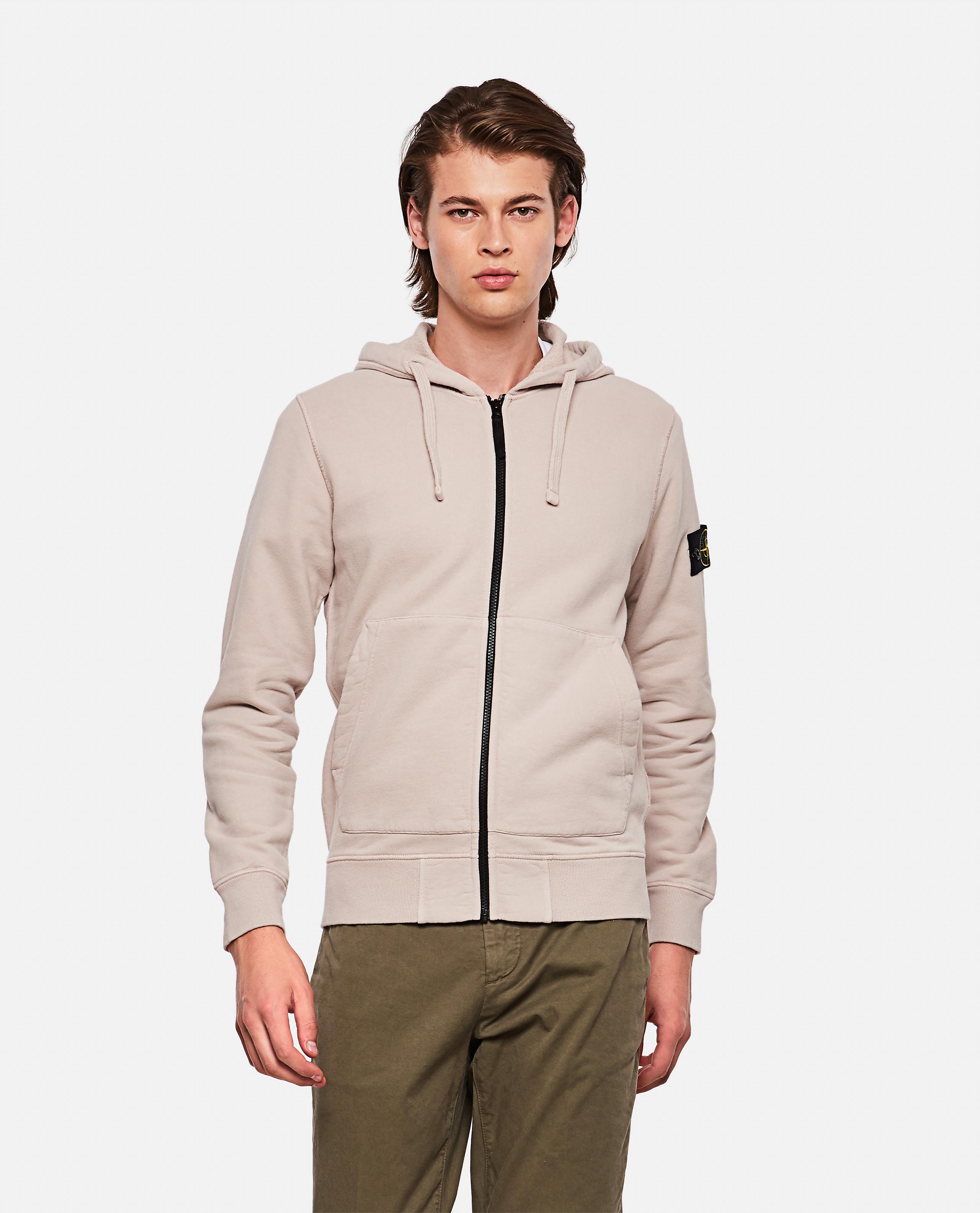 Sweatshirt with zip and hood