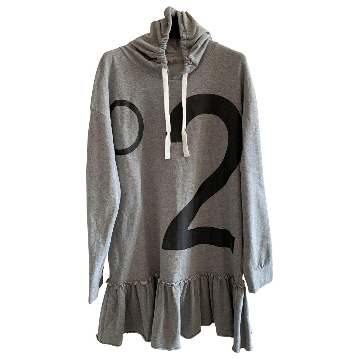 N°21 \N Grey Cotton - elasthane dress for Kids 16 years - M FR