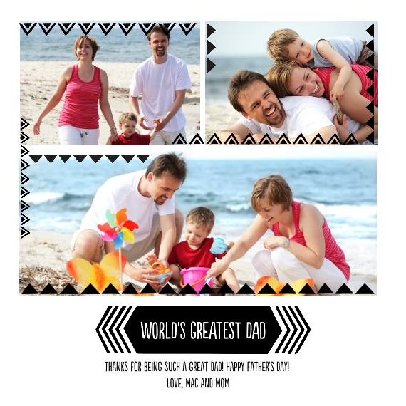 Family + Friends 8x8 Designer Print - Glossy, Prints -World's Greatest Dad