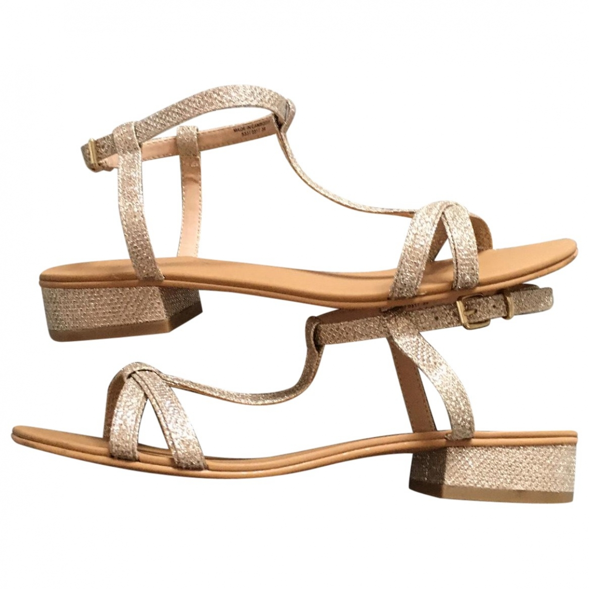 Non Signé / Unsigned \N Gold Sandals for Women 36 EU