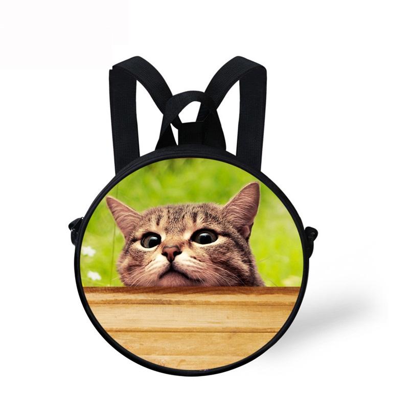 Cat Face Pattern School Bag Shoulders Backpack