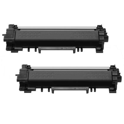 Compatible Brother TN770 cartouche de toner noire extra haute capacite - sans chip-boite economique - 2/paquet