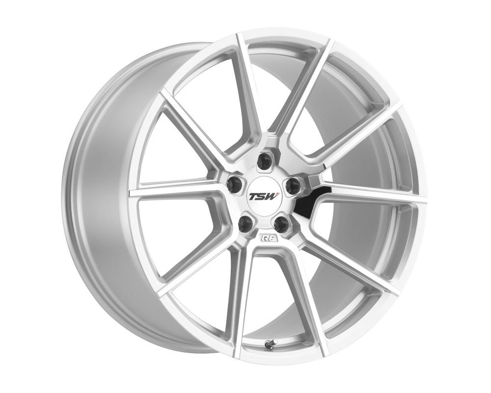 TSW Chrono Wheel 17x8 5x112 32mm Silver w/ Mirror Cut Face