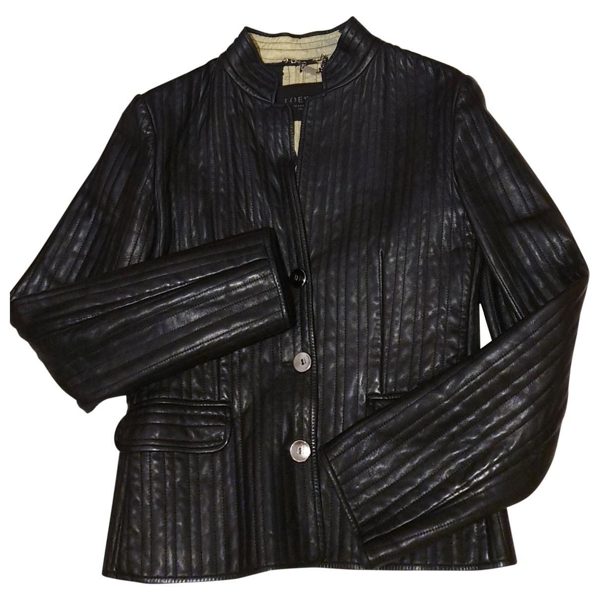 Loewe \N Black Leather jacket for Women 38 FR