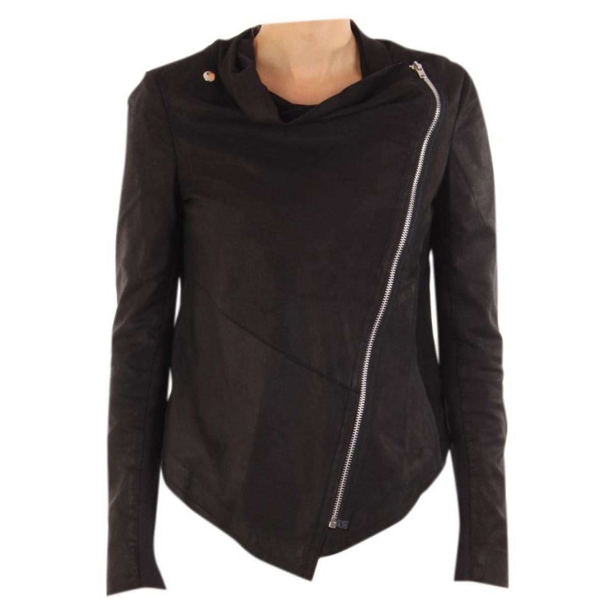 Muubaa \N Black Leather jacket for Women 36 FR