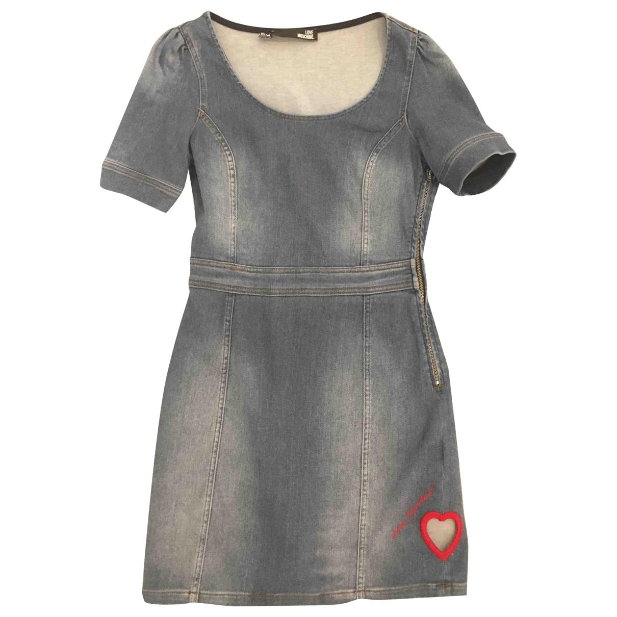 Moschino Love - Robe   pour femme en coton - bleu