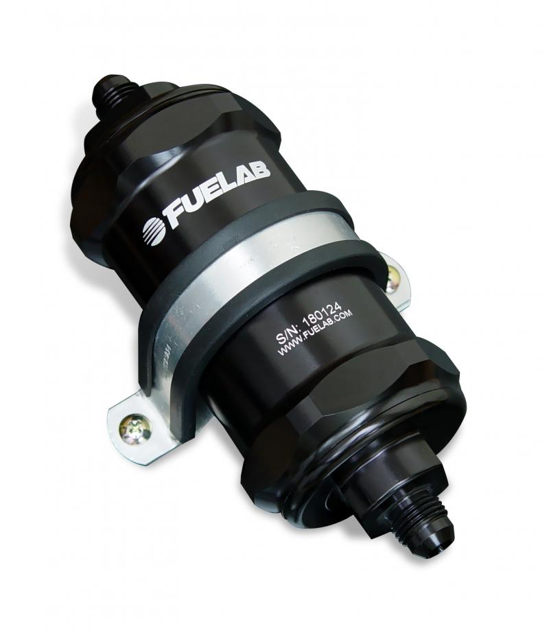 Fuelab 84811-1 In-Line Fuel Filter, 40 micron, Integrated Check Valve