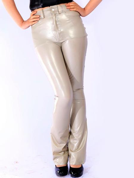 Milanoo Disfraz Halloween Pantalones de latex gris  Halloween